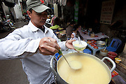 Pho Thanh Ha traditional street market in the old quarter of Hanoi, Vietnam