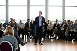 © Licensed to London News Pictures . 19/05/2016 . Salford , UK . Shadow Home Secretary ANDY BURNHAM MP launches his campaign to be the Labour Party's candidate for Mayor of Greater Manchester , from The Compass Room at The Lowry Theatre in Salford . Photo credit : Joel Goodman/LNP