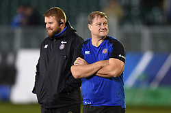 Bath Assistant Coach Neal Hatley looks on prior to the match - Mandatory byline: Patrick Khachfe/JMP - 07966 386802 - 06/12/2019 - RUGBY UNION - The Recreation Ground - Bath, England - Bath Rugby v Clermont Auvergne - Heineken Champions Cup