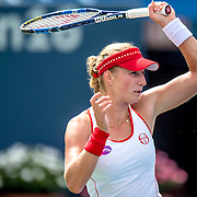 August 21, 2016, New Haven, Connecticut: <br /> Ekaterina Makarova of Russia in action during Day 3 of the 2016 Connecticut Open at the Yale University Tennis Center on Sunday, August  21, 2016 in New Haven, Connecticut. <br /> (Photo by Billie Weiss/Connecticut Open)
