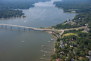 Aerial photo of waterfront home on the Severn River in Annapolis by Jeffrey Sauers of Commercial Photographics