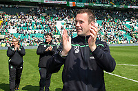 08/05/16 LADBROKES PREMIERSHIP <br /> CELTIC v ABERDEEN <br /> CELTIC PARK - GLASGOW <br /> Celtic manager Ronny Deila at full-time<br /> ** ROTA IMAGE **