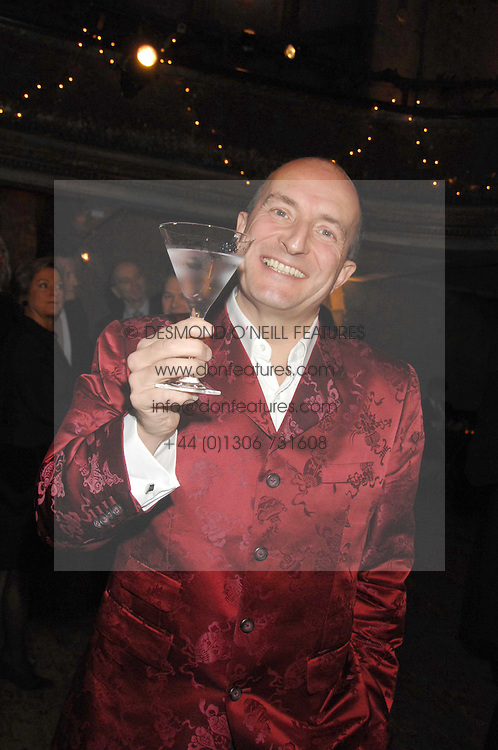 KIT HESKETH-HARVEY at a reception to Discover Wilton's Music Hall held at the hall in Graces Alley, London E1 on 5th December 2007.<br /><br />NON EXCLUSIVE - WORLD RIGHTS