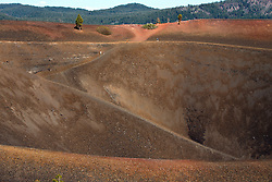 Hiking trail into Cinder Cone, Lassen Volcanic National Park, California, United States of America