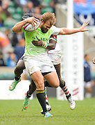 LONDON, ENGLAND - Sunday 11 May 2014, Frankie Horne of South Africa during the Plate final match between South Africa and Kenya at the Marriott London Sevens rugby tournament being held at Twickenham Rugby Stadium in London as part of the HSBC Sevens World Series.<br /> Photo by Roger Sedres/ImageSA
