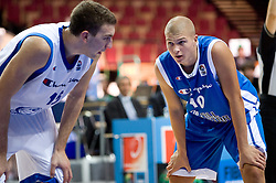 Dean Musli of Serbia and Edo Muric of Slovenia during the U-18 All Star game at EuroBasket 2009, on September 18, 2009 in Arena Spodek, Katowice, Poland.  (Photo by Vid Ponikvar / Sportida)