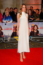 Ruta Gedmintas arriving at the World Premiere of A Street Cat Named Bob at the Curzon Mayfair on November 3 2016 in London. EXPA Pictures &copy; 2016, PhotoCredit: EXPA/ Avalon/ Famous<br /> <br /> *****ATTENTION - for AUT, SLO, CRO, SRB, BIH, MAZ, SUI only*****