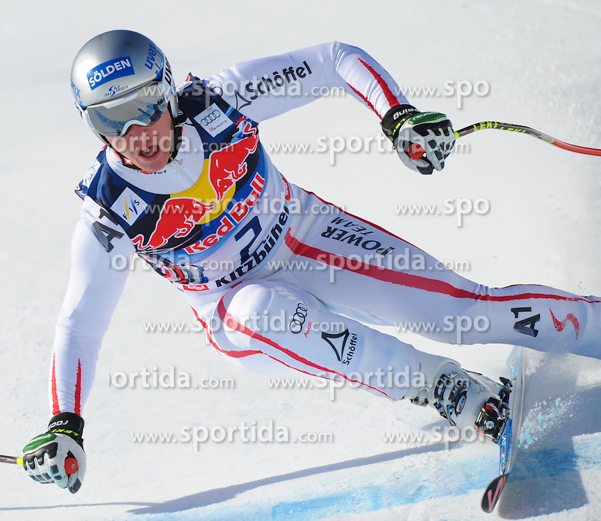 23.01.2013, Streif, Kitzbuehel, AUT, FIS Weltcup Ski Alpin, Abfahrt, Herren, 2. Training, im Bild Florian Scheiber (AUT) // Florian Scheiber of Austria in action during 2nd practice of mens Downhill of the FIS Ski Alpine World Cup at the Streif course, Kitzbuehel, Austria on 2013/01/23. EXPA Pictures © 2013, PhotoCredit: EXPA/ Erich Spiess