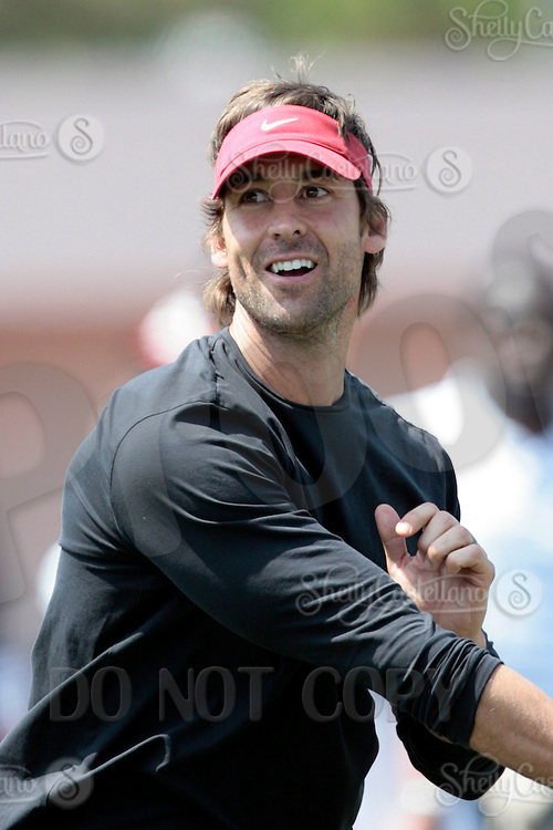 1 April 2009:  Rob Johnson during the 2009 USC Trojans NFL Pro Timing Day at Cromwell Field on The University of Southern California campus.  Pro football scouts, personnel directors, coaches, agents and front office executives spent three hours with former college players who have chosen to enter the 2009 NFL draft.....