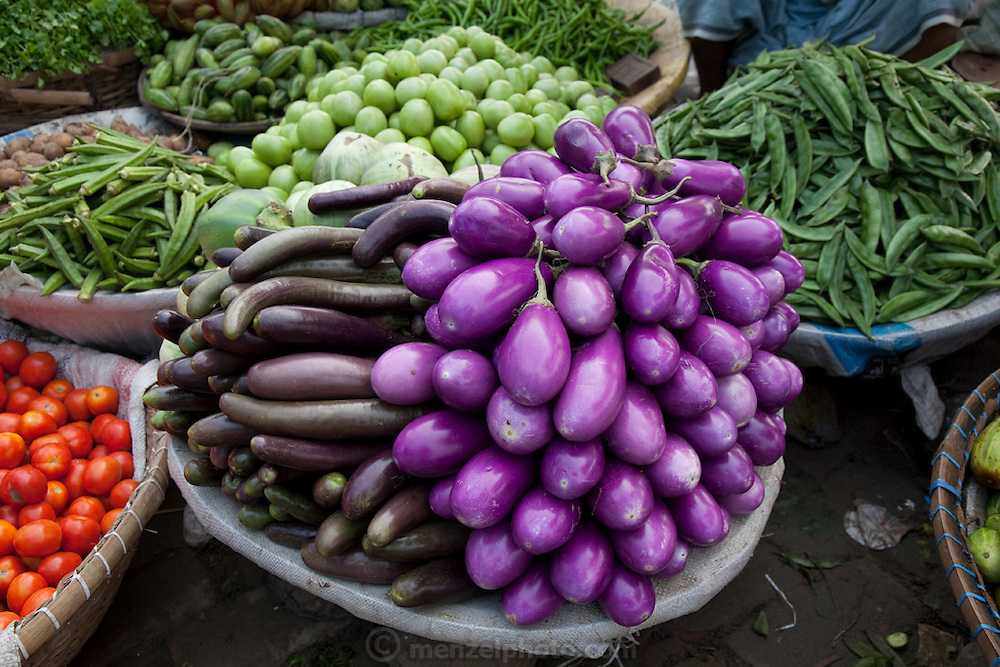 Vegetables on display at the sprawling Sonargaon market  in Sonargaon, outside Dhaka, Bangladesh.
