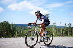 Anna Plichta (POL) crosses the gravel sector during Ladies Tour of Norway 2019 - Stage 4, a 154 km road race from Svinesund to Halden, Norway on August 25, 2019. Photo by Sean Robinson/velofocus.com
