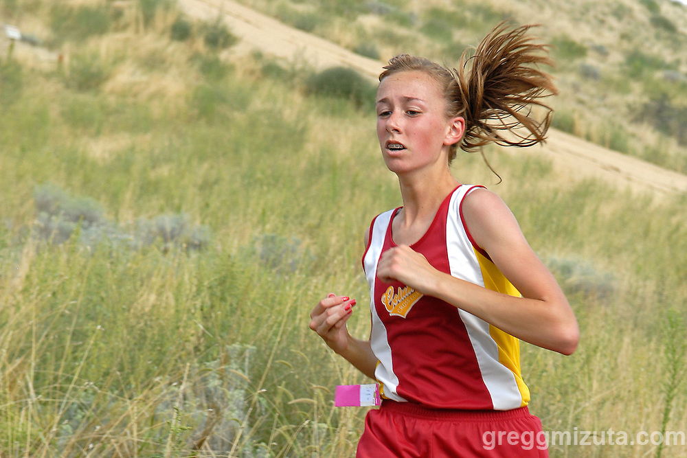 Columbia freshman Hannah Kelly during the 2009 Camelsback Classic at Boise, ID on August 28, 2009. Kelly ifnished in 25:29.2.