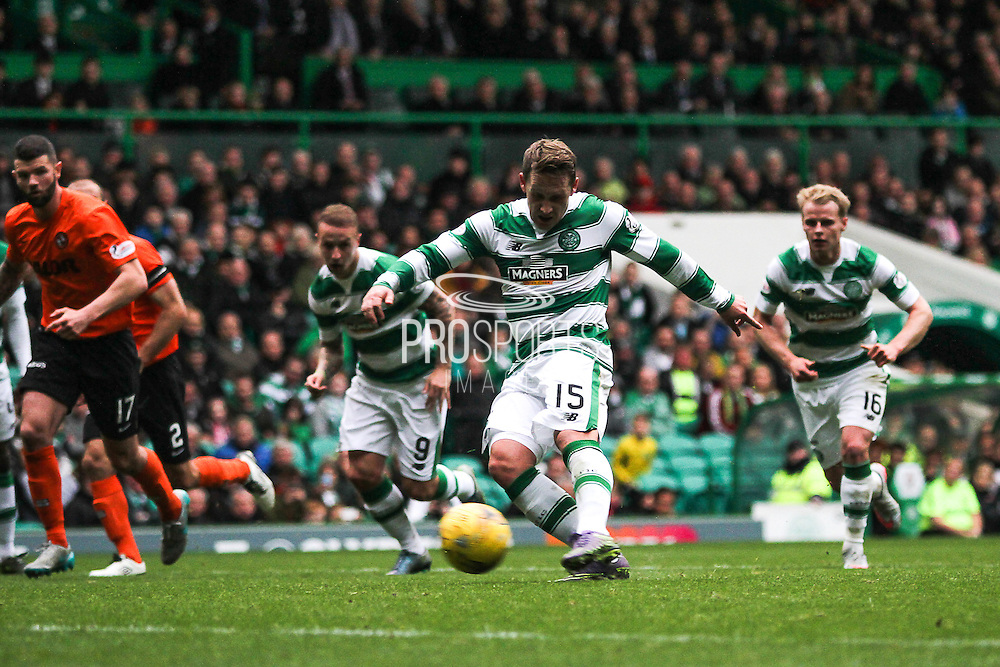 Celtic FC Midfielder Kris Commons takes the Penalty during the Ladbrokes Scottish Premiership match between Celtic and Dundee United at Celtic Park, Glasgow, Scotland on 25 October 2015. Photo by Craig McAllister.