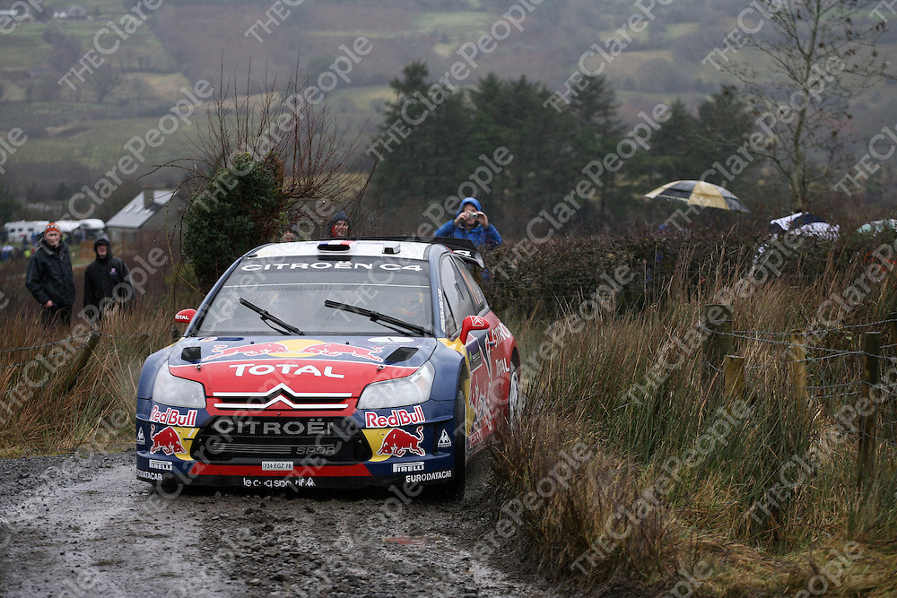 SŽbastien Loeb/Daniel Elena in action at Rally Ireland.<br /> S&eacute;bastien Loeb/Daniel Elena in action at Rally Ireland.