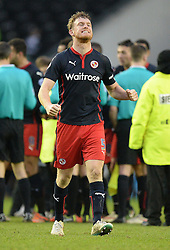 Reading's Alex Pearce celebrates at full time. - Photo mandatory by-line: Alex James/JMP - Mobile: 07966 386802 - 14/02/2015 - SPORT - Football - Derby  - ipro stadium - Derby County v Reading - FA Cup - Fifth Round