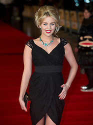 Ex-TOWIE star Lydia Bright arrives for the Run For Your Wife - UK film premiere Odeon -Leicester Sq- London Brit comedy about a happily married man - with two wives, Tuesday  February 5, 2013. Photo: Andrew Parsons / i-Images