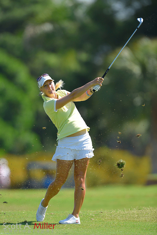Laura Jansone during the final round of the Chico's Patty Berg Memorial on April 19, 2015 in Fort Myers, Florida. The tournament feature golfers from both the Symetra and Legends Tours.<br /> <br /> &copy;2015 Scott A. Miller