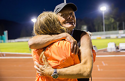 Marusa Mismas of Slovenia and her coach Svjetlan Vujasin after the 3000m Steeplechase Women during 20th European Athletics Classic Meeting in Honour of Miners' Day in Velenje on July 1, 2015 in Stadium Velenje, Slovenia. Photo by Vid Ponikvar / Sportida