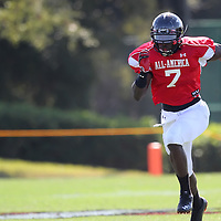during the practice session at the Walt Disney Wide World of Sports Complex in preparation for the Under Armour All-America high school football game on December 3, 2011 in Lake Buena Vista, Florida. (AP Photo/Alex Menendez)