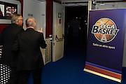 Egidio Bianchi, Gianni Petrucci, Logo Serie A<br /> Presentazione Campionato Lega Basket 2016-2017<br /> Basket Serie A  2016<br /> Milano 26/09/2016<br /> Foto Ciamillo-Castoria