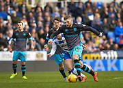 Sheffield Wednesday Forward Gary Hooper runs at the Reading defence during the Sky Bet Championship match between Reading and Sheffield Wednesday at the Madejski Stadium, Reading, England on 23 January 2016. Photo by Adam Rivers.