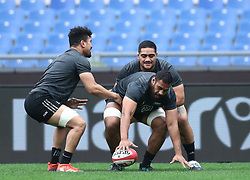November 23, 2018 - Rome, Italy - Rugby All Blacks captains run - Cattolica Test Match.Patrick Tuipulotu at Olimpico Stadium in Rome, Italy on November 23, 2018. (Credit Image: © Matteo Ciambelli/NurPhoto via ZUMA Press)