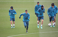 April 10, 2018 - Madrid, Spain - Cristiano Ronaldo of Real Madrid CF jokes with his team mates during a training session ahead of their UEFA Champions LEague quarter final second leg match against Juventus at Valdebebas training ground on April 10, 2018 in Madrid, Spain. (Credit Image: © Raddad Jebarah/NurPhoto via ZUMA Press)