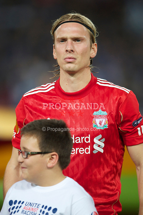 NAPELS, ITALY - Thursday, October 21, 2010: Liverpool's Christian Poulsen before the UEFA Europa League Group K match against SSC Napoli at the Stadio San Paolo. (Pic by: David Rawcliffe/Propaganda)