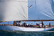 Onawa sailing in the Nantucket 12 Meter Class Regatta.