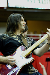 29 December 2010: Kirk a guitarist for band Brushfire.  Brushfire entertained the Arena at Time outs and halftime during an NCAA basketball game where the Creighton Bluejays defeated the Illinois State Redbirds at Redbird Arena in Normal Illinois.
