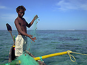 Fisherman in Anakao, a fishing village south of Tuléara (Toliara). Madagascar