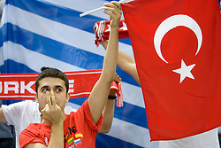 Fans of Turkey during the EuroBasket 2009 Quaterfinals match between Turkey and Greece, on September 18, 2009 in Arena Spodek, Katowice, Poland.  (Photo by Vid Ponikvar / Sportida)