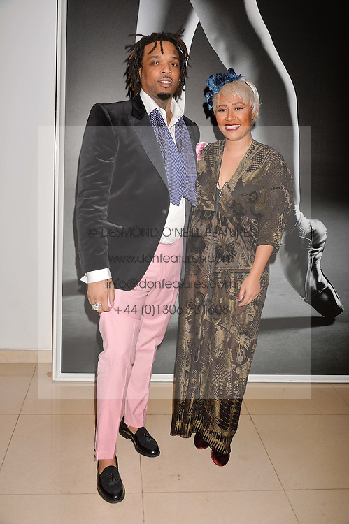 Emili Sande and Lamar Jackson at the Giselle Premier VIP Party, St.Martin's Lane Hotel, London England. 11 January 2017.