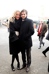 JACK & KATE FREUD at the Hennessy Gold Cup 2010 at Newbury Racecourse, Berkshire on 27th November 2010.