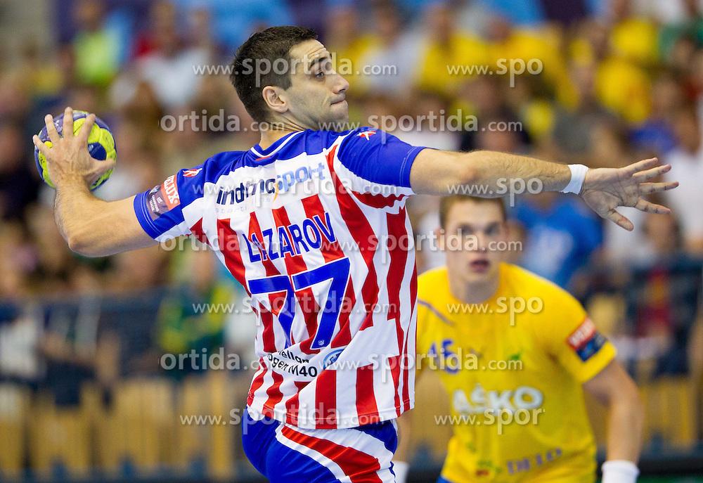 Kiril Lazarov of Atletico Madrid during handball match between RK Celje Pivovarna Lasko and BM Atletico Madrid in 2nd Round of Group B of EHF Champions League 2012/13 on October 6, 2012 in Arena Zlatorog, Celje, Slovenia. (Photo By Vid Ponikvar / Sportida)
