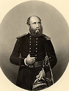 George William Frederick Charles, 2nd Duke of Cambridge (1819-1904); English soldier; cousin of Queen Victoria; field-marshal; commander-in-chief of army 1887; In the Crimean (Russo-Turkish) War 1853-1856 he commanded a division in  1854; present at Alma and Inkermann. Engraving, c1860.