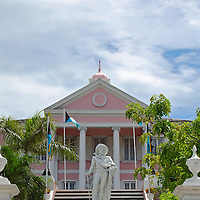 Christopher Columbus Statue located at the foot of Government house, Downtown Nassu the Bahamas