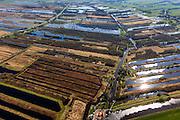 Nederland, Friesland, Weststellingwerf, 01-05-2013; Rottige Meente ten zuidwesten van Wolvega, omgeving Nijetrijne. Het natuurgebied is ontstaan door het afgraven van het veen (voor de productie van turf) en bestaat nu uit lgaagveenrestanten, vol petgaten en legakkers.<br /> Nature areanear Wolvega, Friesland (North Netherlands) is a former bog meadows area. <br /> luchtfoto (toeslag op standard tarieven)<br /> aerial photo (additional fee required)<br /> copyright foto/photo Siebe Swart