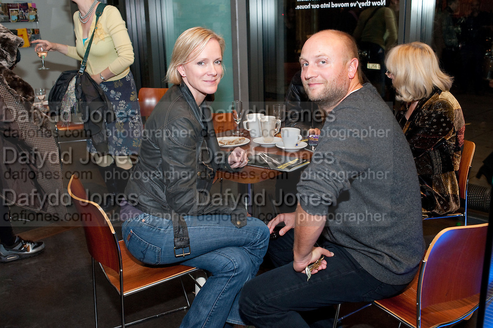 HERMIONE NORRIS; SIMON WHEELER;, Enlightenment, Gala night, Hampstead Theatre, Swiss Cottage, London. 5 October 2010. -DO NOT ARCHIVE-© Copyright Photograph by Dafydd Jones. 248 Clapham Rd. London SW9 0PZ. Tel 0207 820 0771. www.dafjones.com.