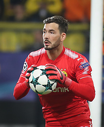 November 21, 2017 - Dortmund, Germany - Dortmund's Swiss goalkeeper Roman Buerki in action during the UEFA Champions League Group H football match BVB Borussia Dortmund v Tottenham Hotspur at the BVB Stadion on November 21, 2017 in Dortmund, western Germany. (Credit Image: © Ahmad Mora/NurPhoto via ZUMA Press)