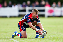 Ian Madigan of Bristol Rugby kicks a conversion - Rogan/JMP - 05/08/2017 - RUGBY UNION - Cleve RFC - Bristol, England - Bristol Rugby v Harlequins - Pre-Season Friendly.