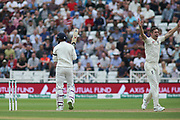 KL Rahul of India is out LBW  Chris Woakes of England during the 3rd International Test Match 2018 match between England and India at Trent Bridge, West Bridgford, United Kingdon on 18 August 2018.