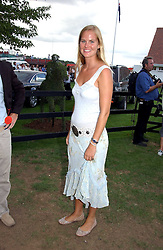 ALICE FERGUSON sister of Sarah, Duchess of York at the Cartier International polo at Guards Polo Club, Windsor Great Park, on 30th July 2006.<br />