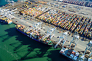 Nederland, Zuid-Holland, Rotterdam, 18-02-2015; Eerste Maasvlakte, Coloradoweg en Europahaven. ECT Delta Terminal, Europe Container Terminals. <br /> luchtfoto (toeslag op standard tarieven);<br /> aerial photo (additional fee required);<br /> copyright foto/photo Siebe Swart