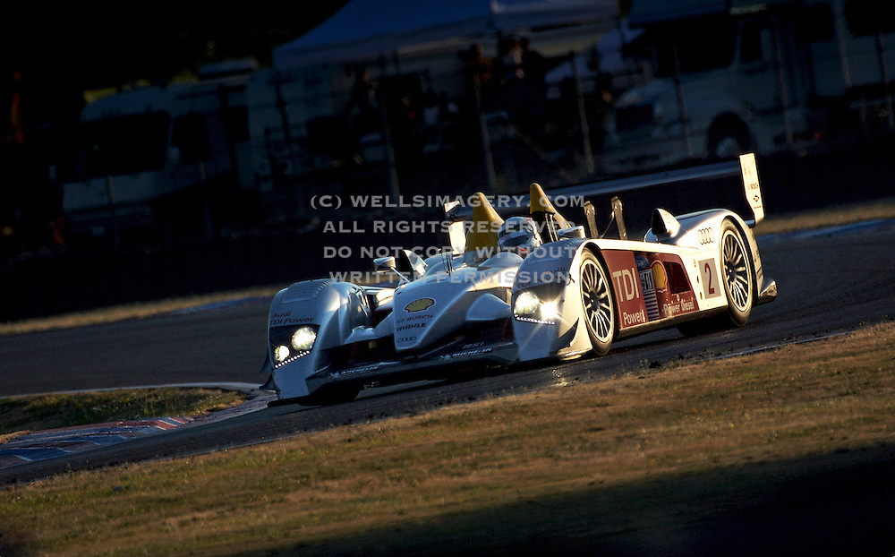 Car Photography from Automotive Photographer Randy Wells, Image of a Audi LeMans Protype race car at Portland International Raceway, Portland, Oregon, Pacific Nothwest