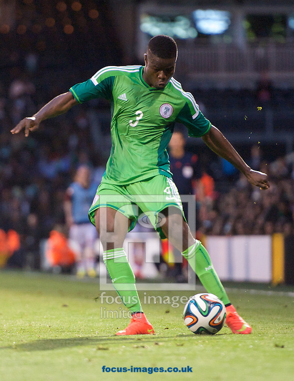 Elderson Echiejile of Nigeria  during the International Friendly match at Craven Cottage, London<br /> Picture by Alan Stanford/Focus Images Ltd +44 7915 056117<br /> 28/05/2014