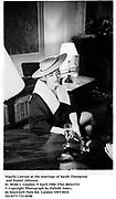 Nigella Lawson at the marriage of Sarah Thompson and Daniel Johnson. St. Bride's. London. 9 April 1988. Film 88261f32<br />© Copyright Photograph by Dafydd Jones<br />66 Stockwell Park Rd. London SW9 0DA<br />Tel 0171 733 0108