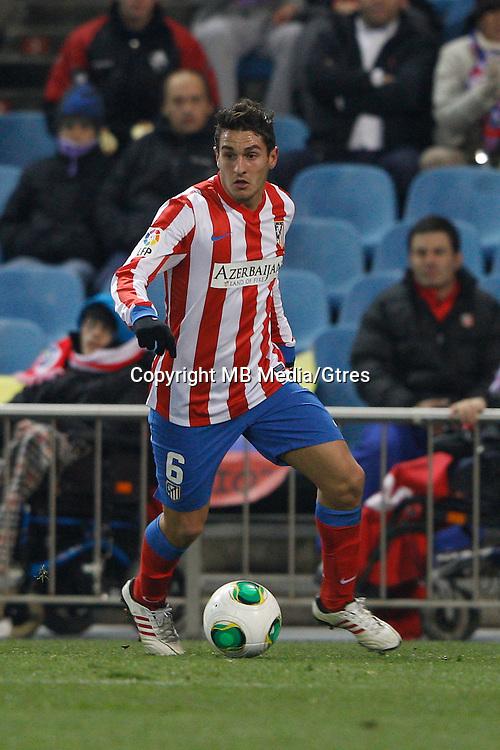 12.12.2012 SPAIN - Copa del Rey 12/13 Matchday 8th  match played between Atletico de Madrid vs Getafe C.F. (3-0) at Vicente Calderon stadium. The picture show Jorge Resurreccion Koke (Spanish midfielder of At. Madrid)