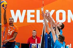 08-09-2018 NED: Netherlands - Argentina, Ede<br /> Second match of Gelderland Cup / Nimir Abdelaziz #14 of Netherlands
