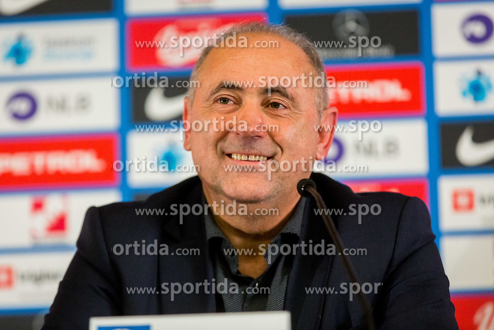 Radenko Mijatovic during Press conference of new head coach of Team Slovenia, on November 27, 2018 in National Football Centre, Brdo pri Kranju, Slovenia. Photo by Ziga Zupan / Sportida
